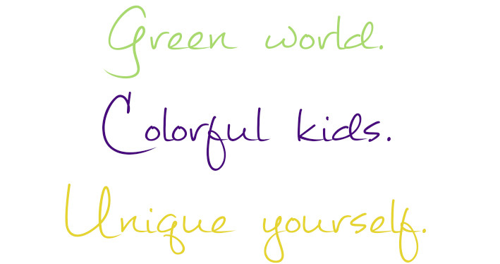 Green world colorful kids unique yourself