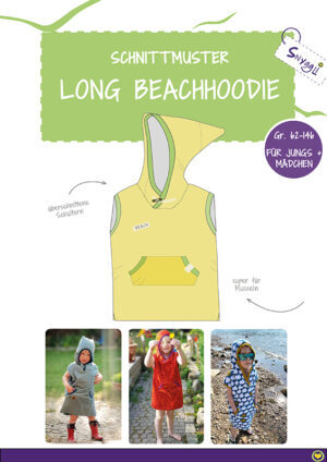 Long Beachhoodie Schnittmuster eBook Snyggli
